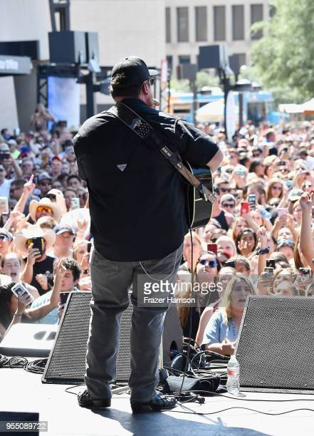 Luke Combs performs live during the 2018 Daytime Village at the 2018 iHeartCountry Festival By ATT at The Frank Erwin Center on May 5 2018 in Austin...