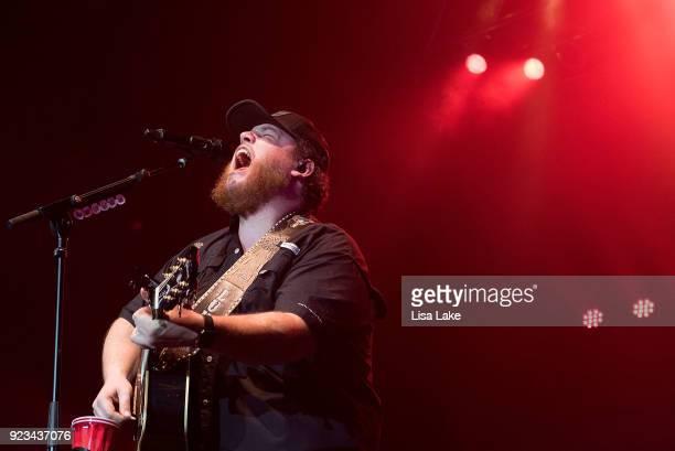Luke Combs performs live on stage at Sands Bethlehem Event Center on February 22 2018 in Bethlehem Pennsylvania
