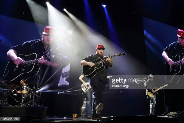 Luke Combs performs on day 2 of C2C Country to Country festival at The O2 Arena on March 10 2018 in London England