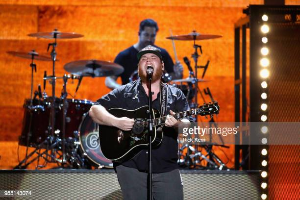 Luke Combs performs onstage during the 2018 iHeartCountry Festival By ATT at The Frank Erwin Center on May 5 2018 in Austin Texas