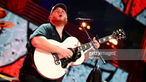 Luke Combs performs onstage during the 2019 iHeartCountry Festival Presented by Capital One at the Frank Erwin Center on May 4 2019 in Austin Texas