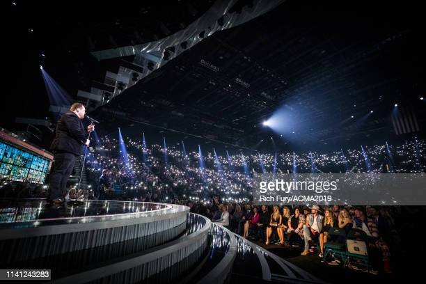 Luke Combs performs onstage during the 54th Academy Of Country Music Awards at MGM Grand Garden Arena on April 07 2019 in Las Vegas Nevada