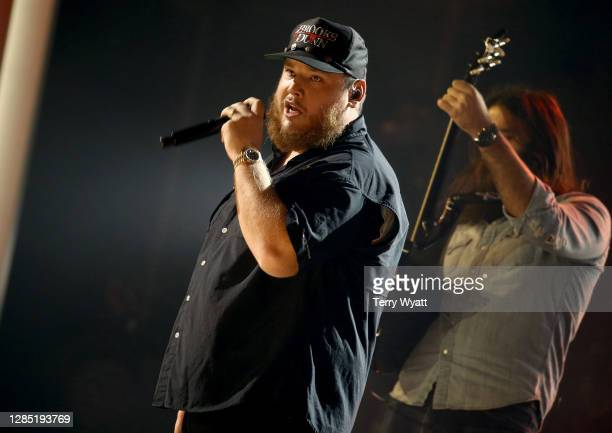 Luke Combs performs onstage during the The 54th Annual CMA Awards at Nashville's Music City Center on Wednesday November 11 2020 in Nashville...