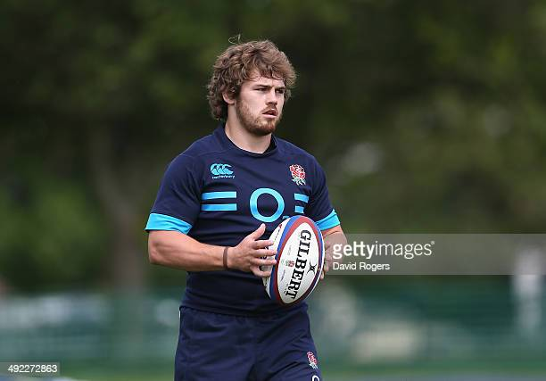 Luke CowanDickie looks on during the England training session held at the Lensbury Club on May 19 2014 in Teddington England