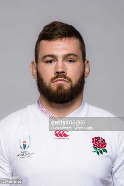 Luke Cowan-Dickie of England poses for a portrait during the England Rugby World Cup 2019 squad photo call on September 15, 2019 in Miyazaki, Japan.