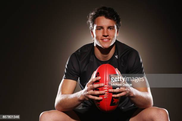 Luke DaviesUniacke poses during the AFL Draft Combine at Etihad Stadium on October 5 2017 in Melbourne Australia