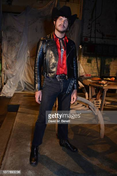 Luke Day attends the Charles Jeffrey LOVERBOY show during London Fashion Week Men's January 2019 at Wapping Hydraulic Power Station on January 5 2019...
