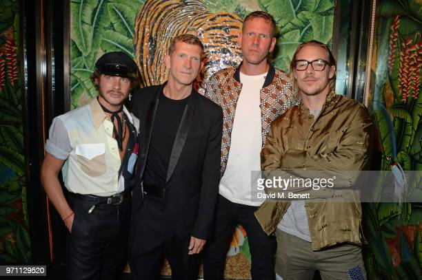 Luke Day Dean Cook Paul Brennan and Diplo attend the GQ Style and Browns LFWM Party at Annabels on June 10 2018 in London England