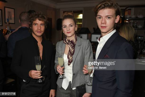 Luke Day editor of GQ Style Ava Sangster and Thomas BrodieSangster attend Grey Goose Vodka and GQ Style's dinner in celebration of film and fashion...