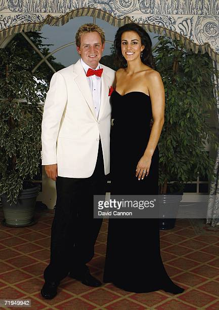 Luke Donald and Girlfriend Diane Antonopoulos pose for a photograph before the Gala Dinner of the 36th Ryder Cup at the K Club on September 20 2006...