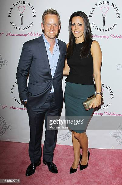 Luke Donald and wife Diane Antonopoulos arrive at the PGA TOUR Wives Association celebrates its 25th Anniversary held at Fairmont Miramar Hotel on...