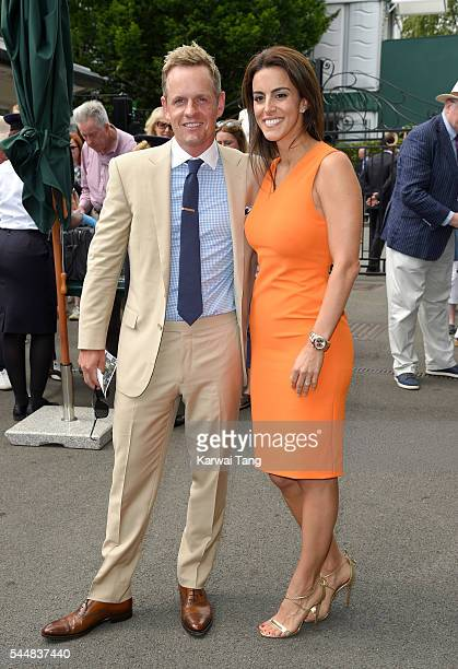 Luke Donald and wife Diane attend day eight of the Wimbledon Tennis Championships at Wimbledon on July 04 2016 in London England