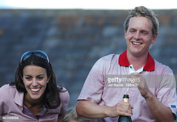 Luke Donald Europe Ryder Cup Team and his girlfrield Diane Antonopoulos