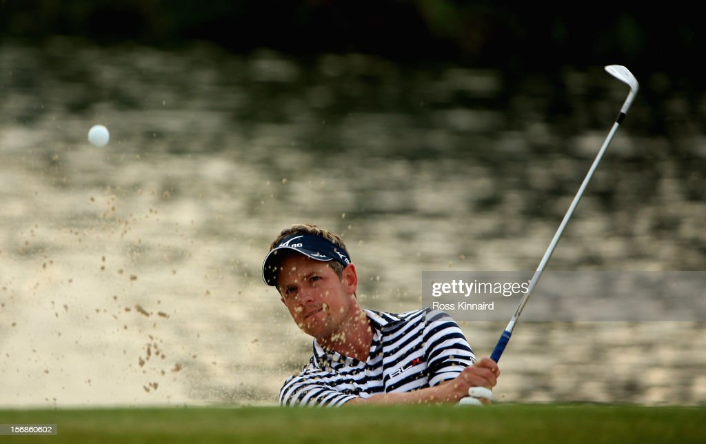 Luke Donald of England during the second round the DP World Tour Championship on the Earth Course at Jumeirah Golf Estates on November 23, 2012 in Dubai, United Arab Emirates...