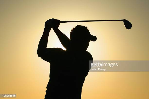 Luke Donald of England tees off during round one of the Madrid Masters Golf at El Encin Golf & Hotel on October 6, 2011 in Madrid, Spain.