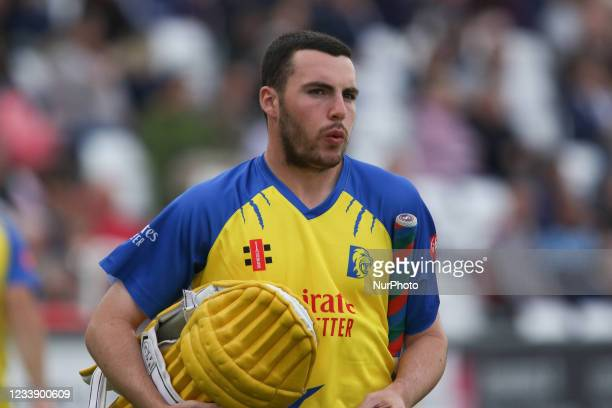 Luke Doneathy of Durham seen during the Vitality Blast T20 match between Durham County Cricket Club and Derbyshire County Cricket Club at Emirates...
