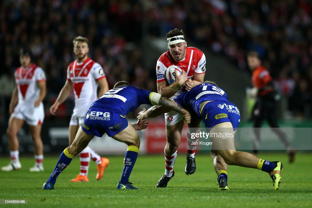 St Helens v Warrington Wolves - BetFred Super League Semi Final : Fotografía de noticias