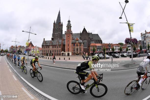 Luke Durbridge of Australia and Team Mitchelton - Scott / Christopher Juul Jensen of Denmark and Team Mitchelton - Scott / Alexander Edmondson of...