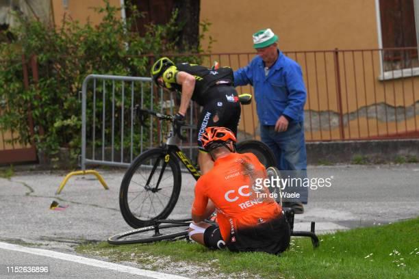 Luke Durbridge of Australia and Team Mitchelton - Scott / Lukasz Owsian of Poland and CCC Team / Crash / Injury /during the 102nd Giro d'Italia 2019,...