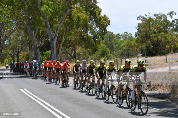 Luke Durbridge of Australia and Team MitcheltonScott / Michael Hepburn of Australia and Team MitcheltonScott / Cameron Meyer of Australia and Team...