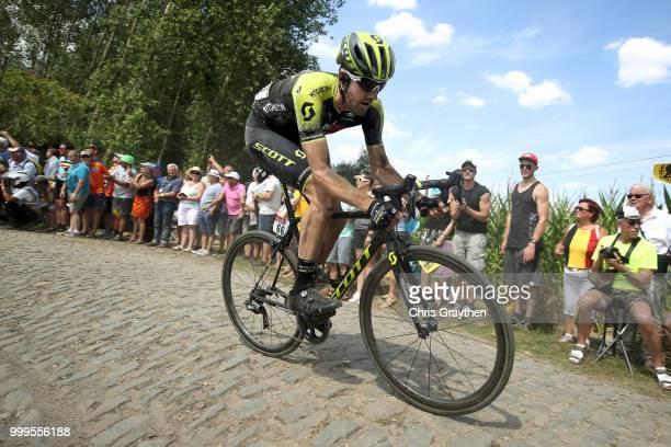 Luke Durbridge of Australia and Team MitcheltonScott / ont Thibault a Ennevelin Cobbles Sector 1 / Pave / during the 105th Tour de France 2018 Stage...