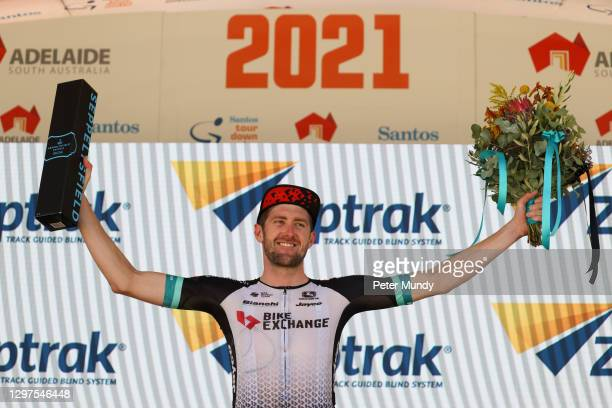 Luke Durbridge of of Team BikeExchange wins the Men's Ziptrak Stage 1 from Seppeltsfield to Tanunda during the Santos Festival of Cycling on January...