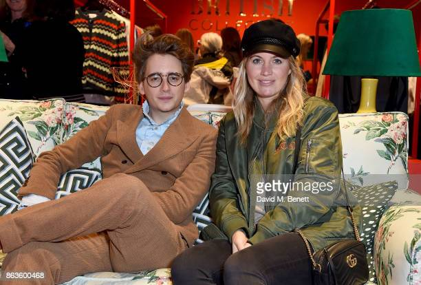 Luke Edward Hall and Marissa Montgomery attend the opening of the new Bicester Village and the launch of the British Collective at Bicester Village...