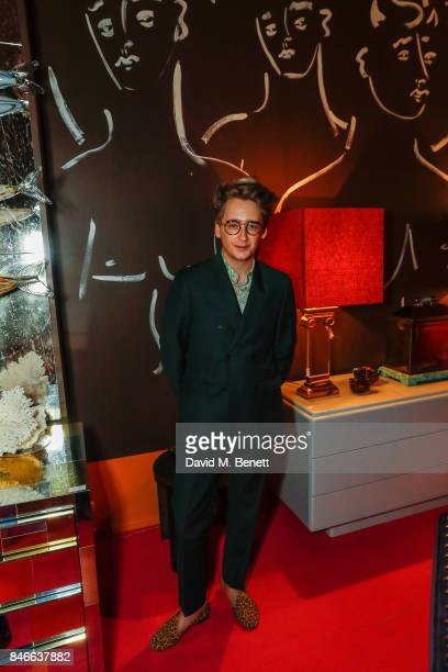 Luke Edward Hall attends the 'Designed At Talisman' designer exhibition during the London Design Festival 2017 at Talisman New Kings Road on...