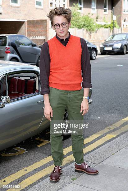 Luke Edward Hall attends the luxury eyewear brand Linda Farrow LFMAN collection launch at the Town Hall Hotel on September 7 2016 in London England