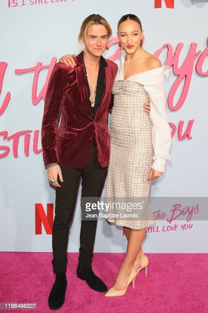 Luke Eisner and Ava Michelle attend the Premiere of Netflix's To All The Boys PS I Still Love You at the Egyptian Theatre on February 03 2020 in...