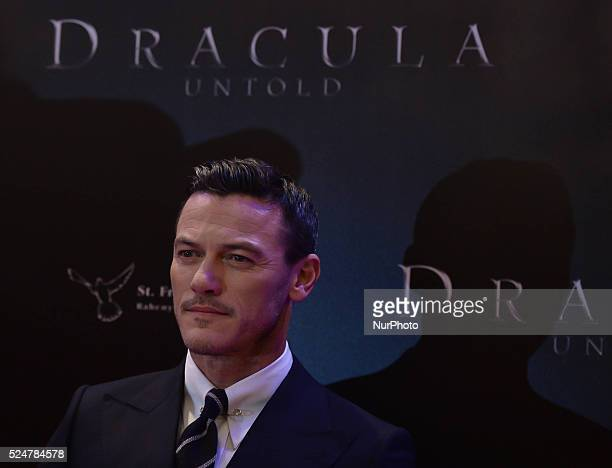 Luke Evans a Welsh actor and singer attends the Irish Premiere of Dracula at Savoy Cinema O'Connell St in Dublin Ireland 30th September 2014 Photo...