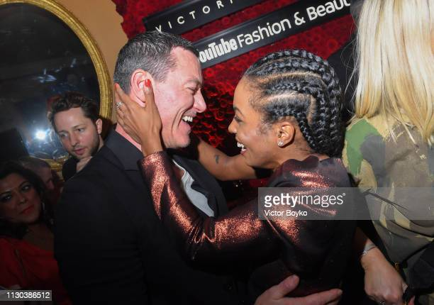 Luke Evans and Adrienne Warren at the Victoria Beckham x YouTube Fashion Beauty After Party at London Fashion Week hosted by Derek Blasberg and David...