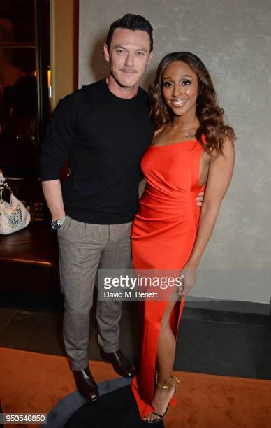 Luke Evans and cast member Alexandra Burke attend the press night after party for 'Chess' at St Martins Lane on May 1 2018 in London England
