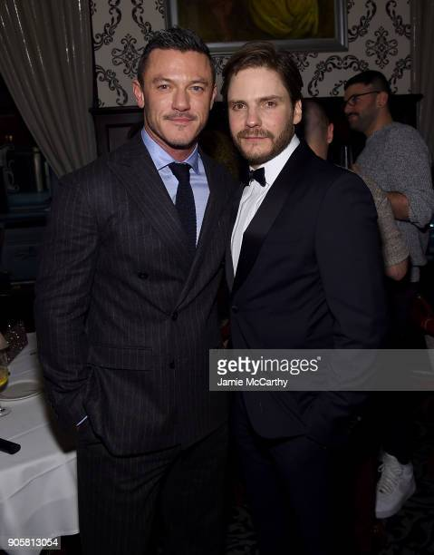 Luke Evans and Daniel Bruhl attend the New York Premiere Of TNT's 'The Alienist' after party at Delmonico's on January 16 2018 in New York City