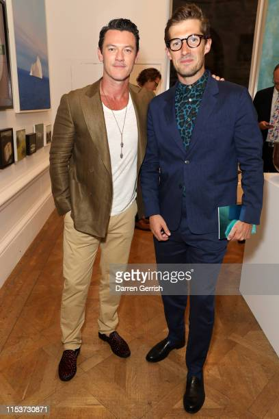 Luke Evans and Gwilym Lee attend The Royal Academy Of Arts Summer Exhibition Preview Party at Royal Academy of Arts on June 04 2019 in London England