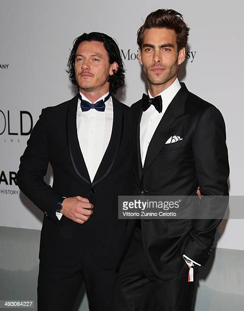 Luke Evans and Jon Kortajarena attend amfAR's 21st Cinema Against AIDS Gala Presented By WORLDVIEW BOLD FILMS And BVLGARI at Hotel du CapEdenRoc on...