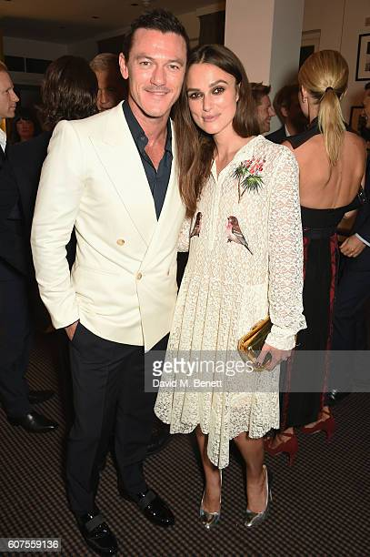 Luke Evans and Keira Knightley attend the Green Carpet Challenge 2016 BAFTA Night to Remember on September 18 2016 in London England