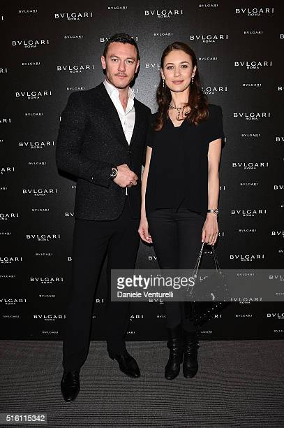 Luke Evans and Olga Kurylenko attend Bvlgari Press Breakfast at Baselworld 2016 on March 17 2016 in Basel Switzerland