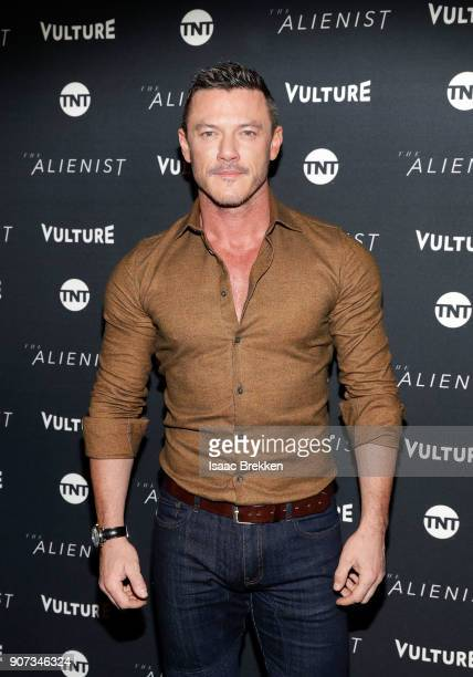 Luke Evans arrives at a screening of 'The Alienist' presented by Vulture TNT during Sundance Film Festival 2018 on January 19 2018 in Park City Utah