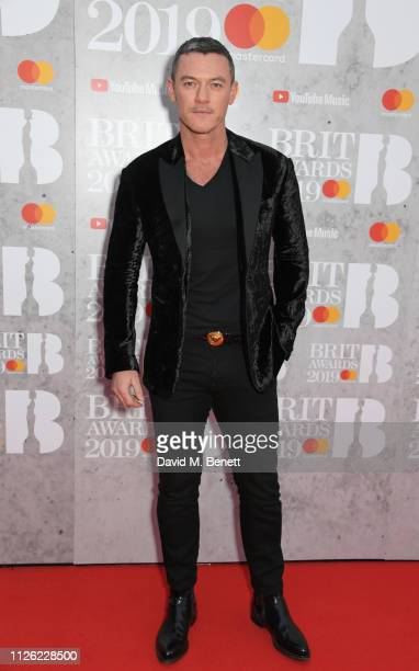 Luke Evans arrives at The BRIT Awards 2019 held at The O2 Arena on February 20 2019 in London England