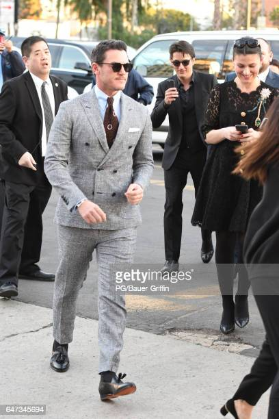 Luke Evans arrives at the premiere of 'Beauty and the Beast' on March 02 2017 in Los Angeles California