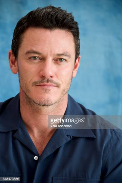 Luke Evans at the Beauty and the Beast Press Conference at the Montage Hotel on March 5 2017 in Beverly Hills California