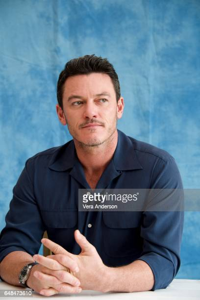 Luke Evans at the 'Beauty and the Beast' Press Conference at the Montage Hotel on March 5 2017 in Beverly Hills California