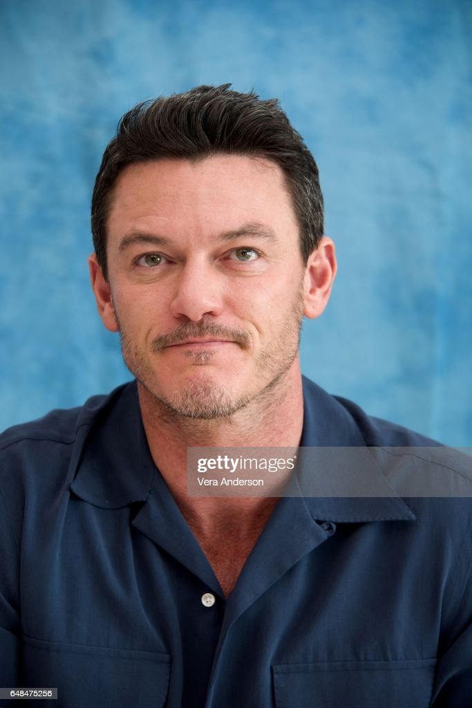 Luke Evans at the 'Beauty and the Beast' Press Conference at the Montage Hotel on March 5, 2017 in Beverly Hills, California.