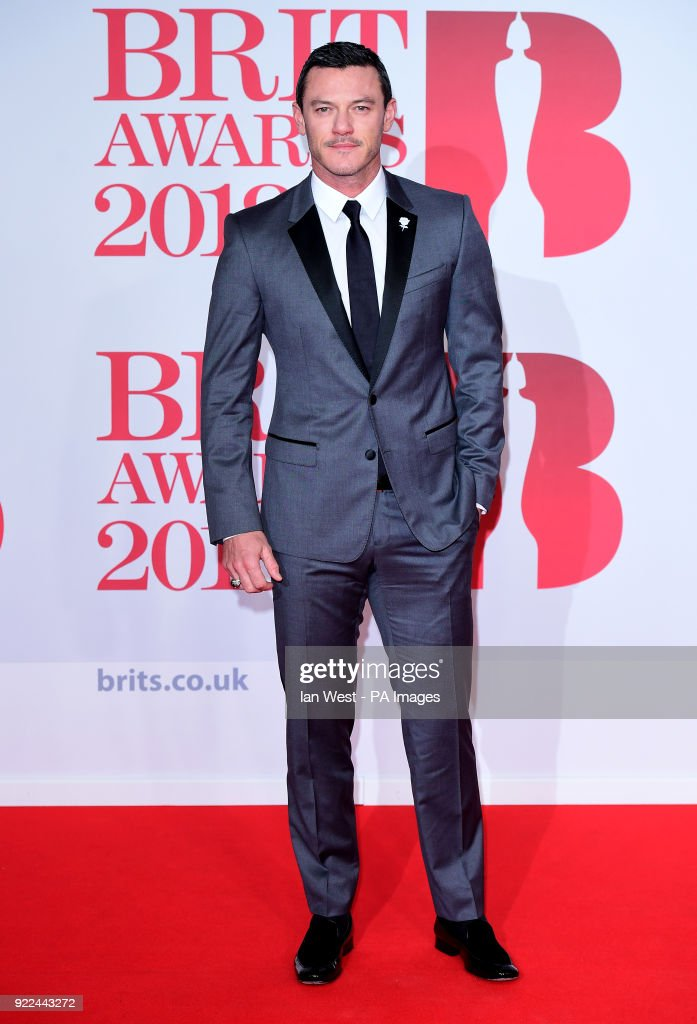 Luke Evans attending the Brit Awards at the O2 Arena, London