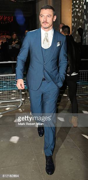 Luke Evans attending the The Brit Awards Warner Music Group After Party on February 24 2016 in London England