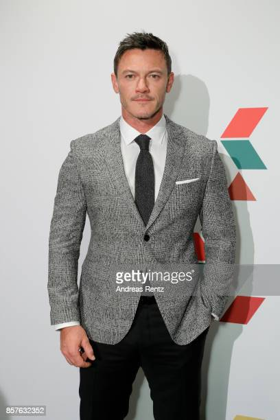 Luke Evans attends an EAMES Celebration by HUGO BOSS and Vitra Design Museum at Lapidarium on October 4 2017 in Berlin Germany