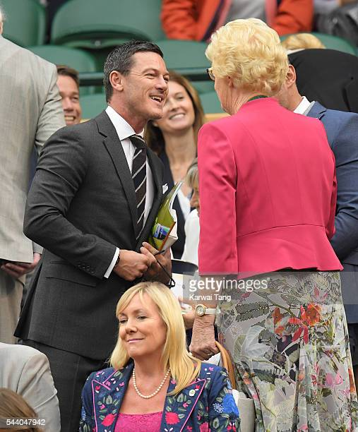 Luke Evans attends day five of the Wimbledon Tennis Championships at Wimbledon on July 01 2016 in London England