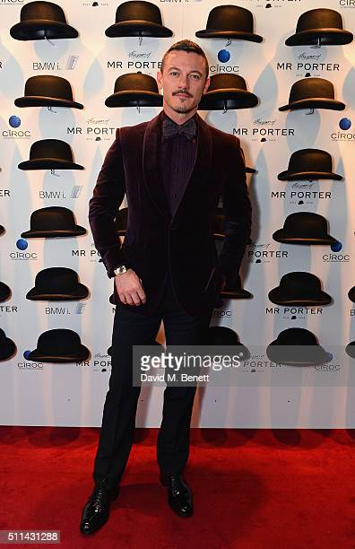 Luke Evans attends Mr Porter's fifth birthday celebration at The Savile Club on February 20 2016 in London England