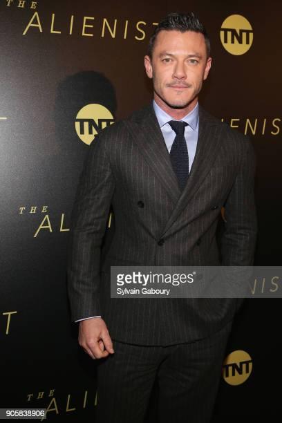 "Luke Evans attends New York Premiere of TNT's ""The Alienist"" on January 16, 2018 in New York City."